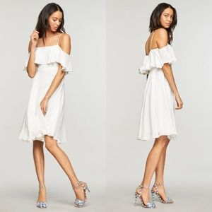 Milly Emmaline Silk Stretch Off White Dress